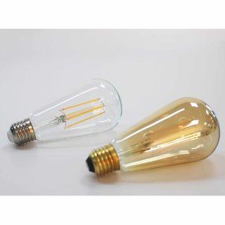 LED吊钟型直灯丝灯ST64透明7W/E27/700lm/2700K