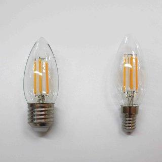 LED 4.5W 烛泡 直灯丝 B35 透明 E14/E27 4000K/2700K