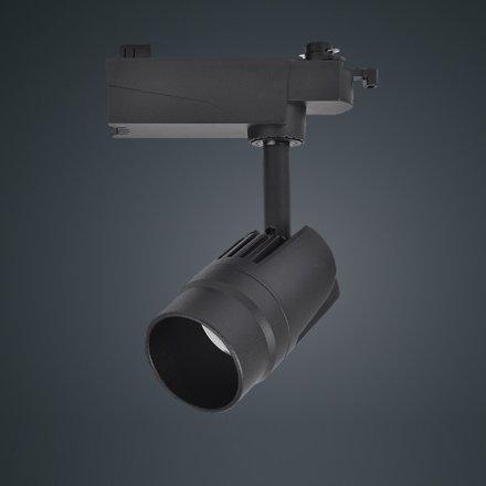 無頻閃 高顯色 深防眩餐飲軌道燈 12W 24° 2線導軌安裝
