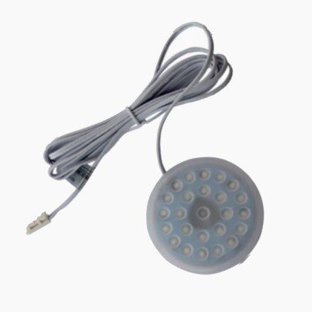 LED圓形櫥柜衣柜燈12V低壓航空鋁材無眩光無光斑磁鐵明裝/1.8W/65*8MM/24pcs
