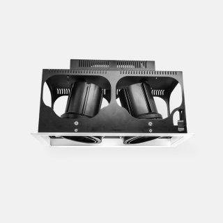 双头嵌入式高显色筒射灯2*32W开孔320*135mm3000K商业