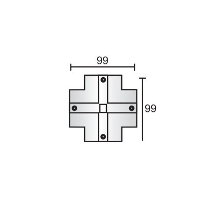 十字型连接器盖板 银灰色