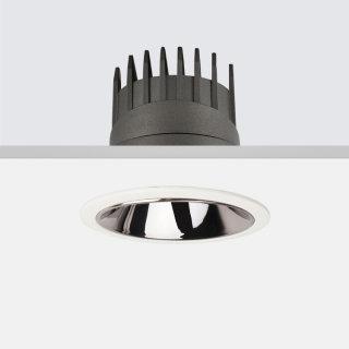 HOLE2.0深藏防眩高显筒灯/8W/2700K/15°/圆形/直照/黑镍出光环