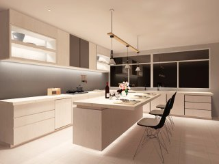 软件模拟效果图  厨房